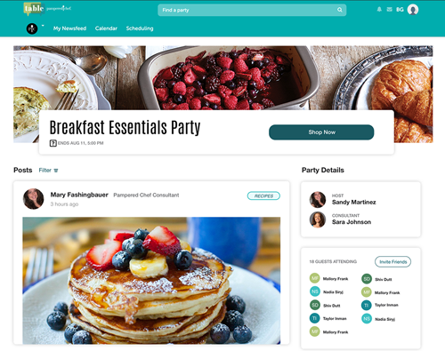 Party-Commerce Platform